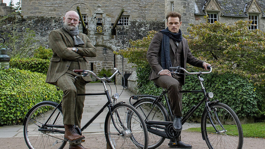 Sam Heughan y Graham McTavish en Men in Kilts